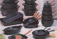 cast iron pots